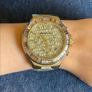 Used Michael Kors Alligator Print Leather Watch